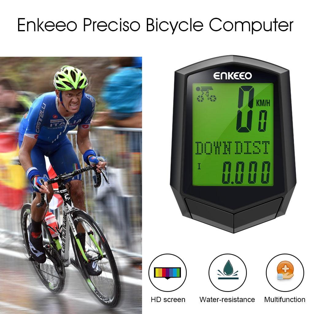 Enkeeo Preciso 1 0 Wireless Cadence Bike Computer Speedometer