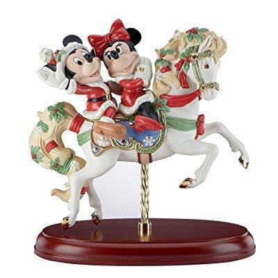 Lenox mickey's christmas carousel horse figurine