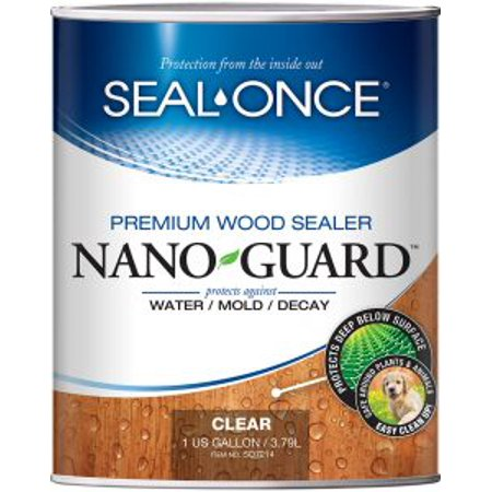 SEAL-ONCE NANOGUARD PREMIUM WOOD SEALER 1 GALLON (Best Sealer For Pressure Treated Wood)
