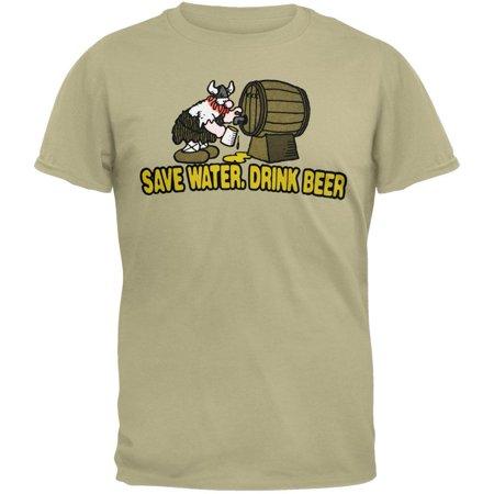 Hagar - Save Water Drink Beer Tan T-Shirt