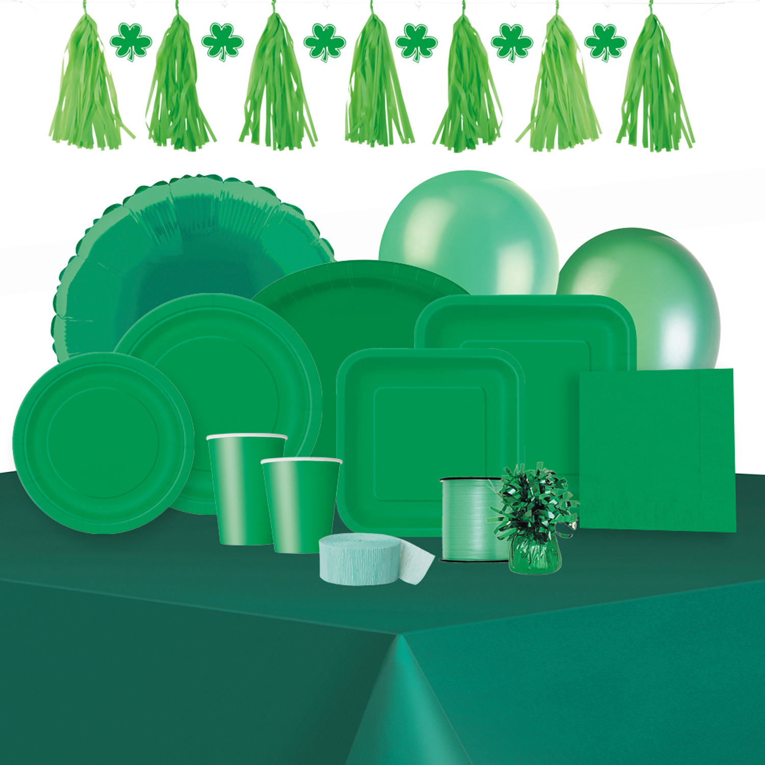 Image 2 of 3 & Paper Plates 9 in Green 16ct - Walmart.com
