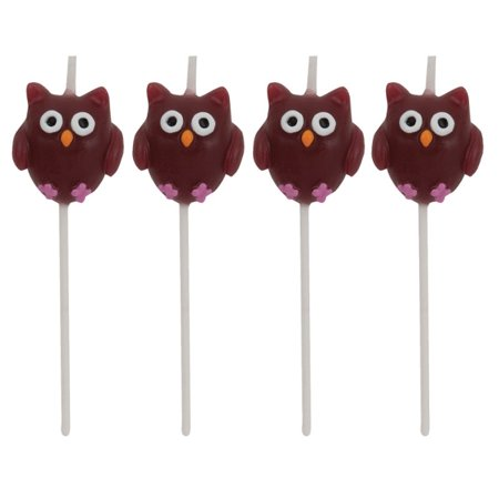 Owl Shaped Pick Candles (4 ct) - Heart Shaped Candles