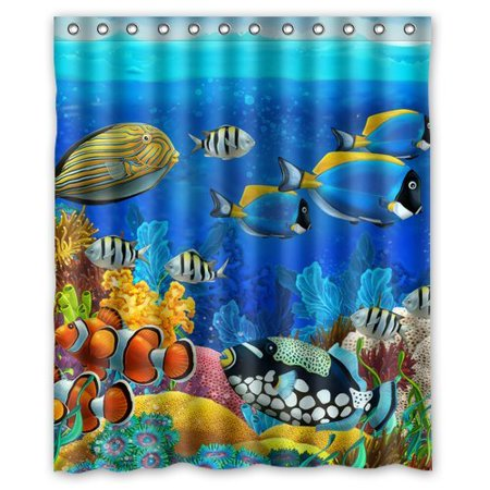 GreenDecor Beautiful Scenery Underwater World Waterproof