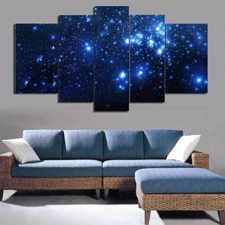 Moaere Starry Night Famous Oil Paintings Reproduction Modern Giclee Canvas Prints Artwork Abstract Landscape Pictures Printed on Canvas Wall Art for Home Office Decorations