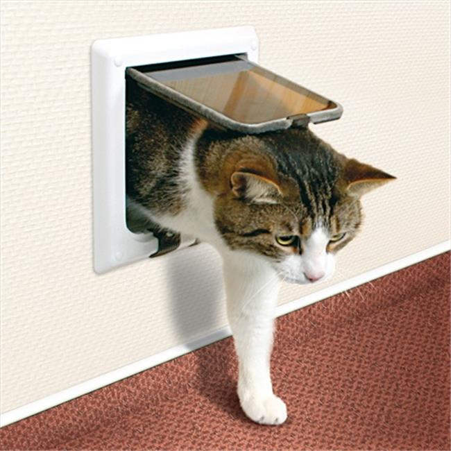 TRIXIE Pet Products 38641 Outdoor Run Doors 4-Way Cat Flap With Tunnel