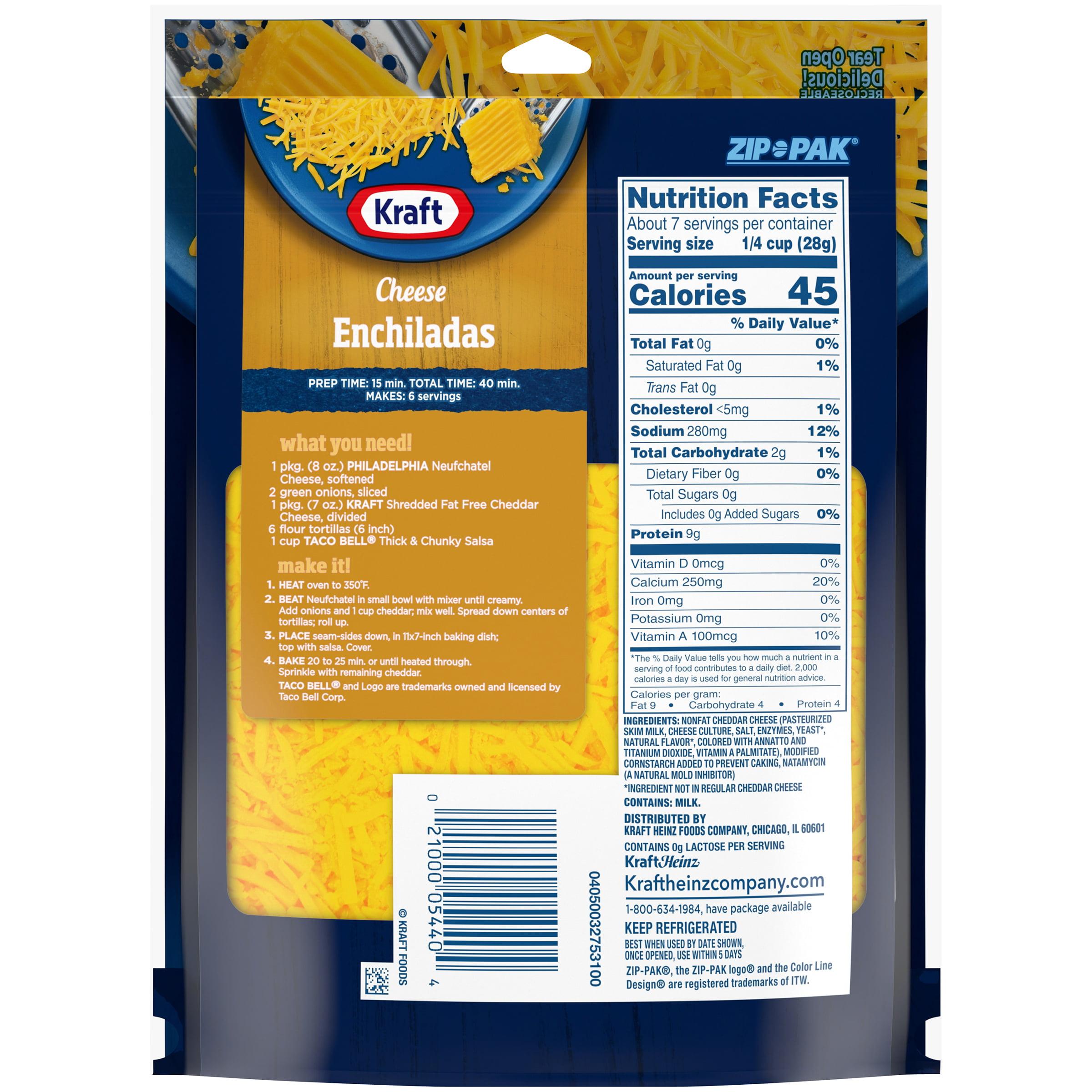 Kraft Fat Free Cheddar Shredded Cheese