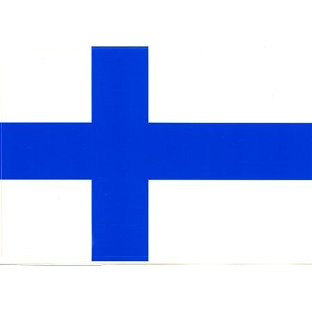 Vinyl Decal- Finland Flag Sticker - 3.25