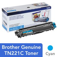 Brother Genuine Standard Yield Toner Cartridge, TN221BK, Replacement Black Toner, Page Yield Up To 2,500 Pages