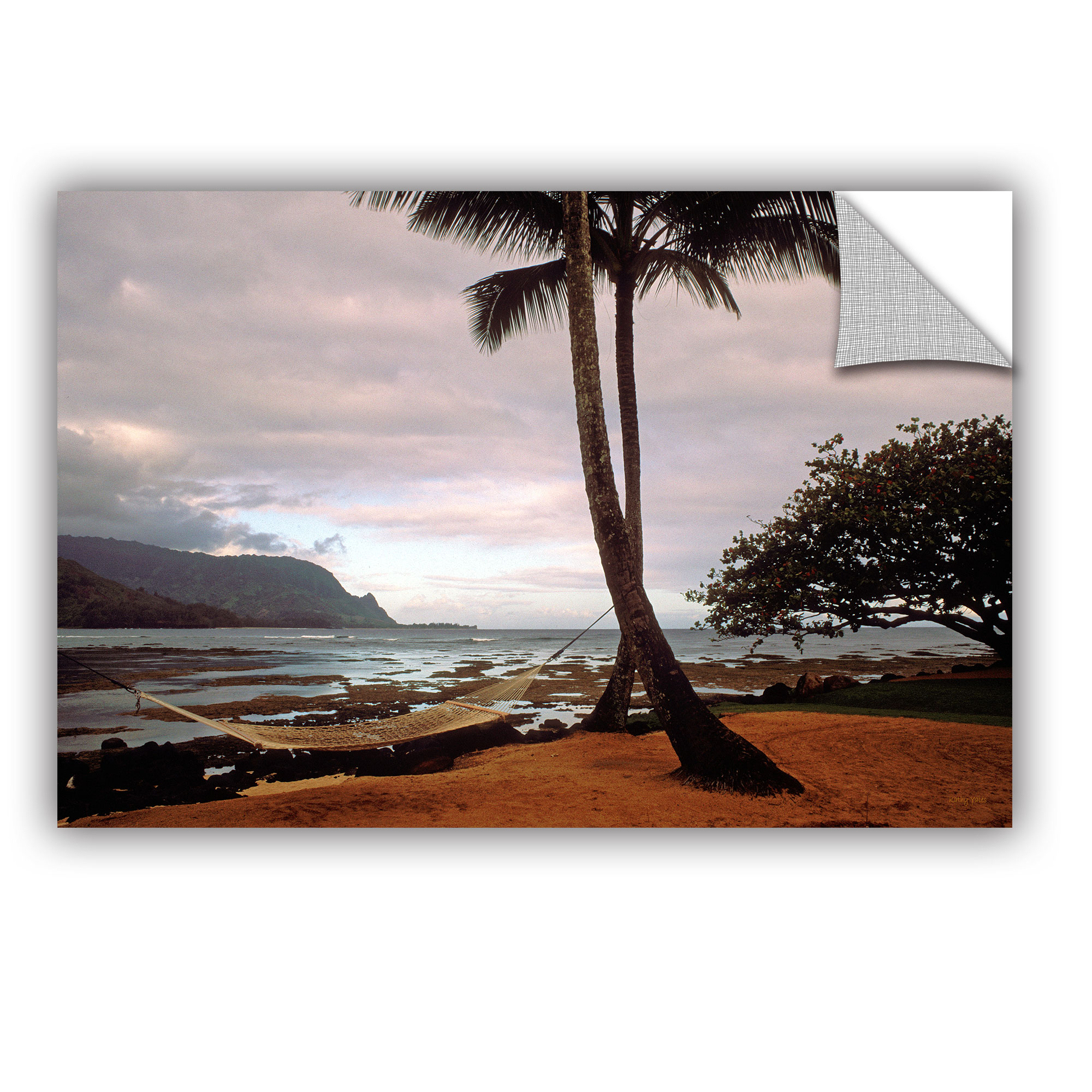 'Hanalei Bay Hammock at Dawn' Removable Wall Art Mural