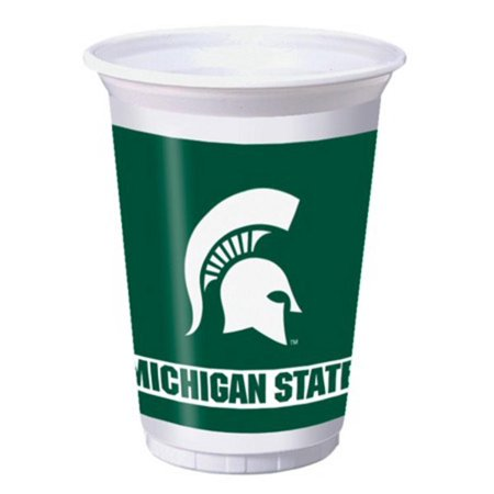 96 NCAA Michigan State Spartans Plastic Drinking Tailgate Party Cups - 20 Ounces