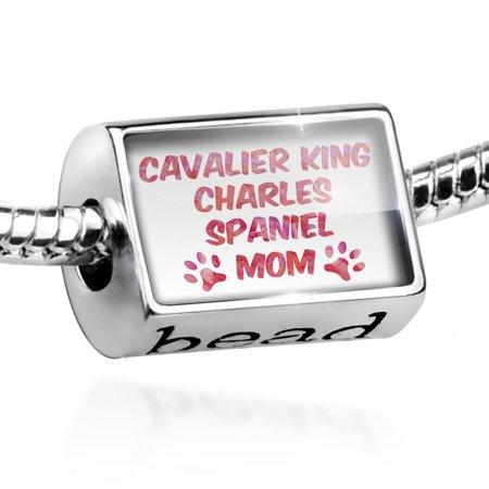 Bead Dog & Cat Mom Cavalier King Charles Spaniel Charm Fits All European