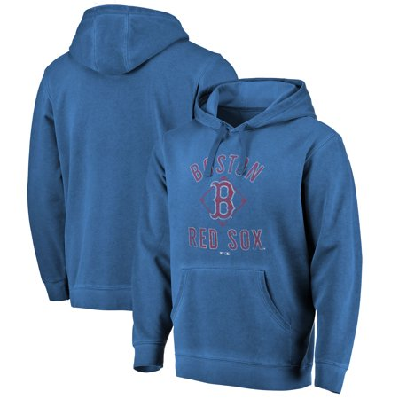 Red Boston Wash - Boston Red Sox Fanatics Branded Washed Icon Pullover Hoodie - Navy
