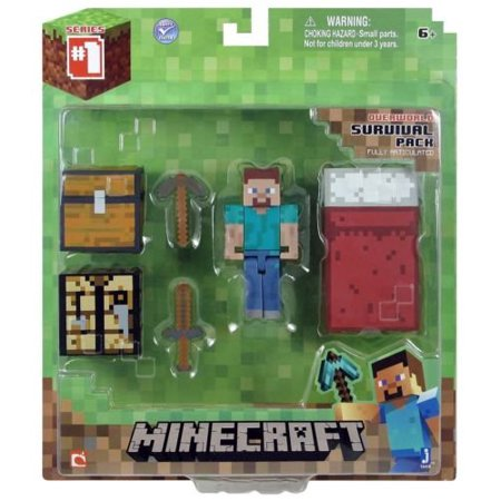 Minecraft Series 1 Core Player Survival Pack Figure Action Steve (College Player Series)