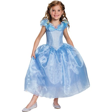 Cinderella Movie Deluxe Child Halloween Costume - Halloween Costume Ideas For Kids Age 12