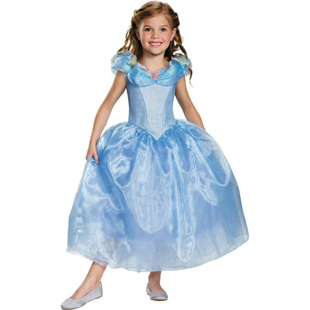 Cinderella Movie Deluxe Child Halloween Costume (Old Dress Halloween Costume)