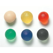 CanDo gel hand exercise ball, small, 6 pc set (1 ea: tan through black)