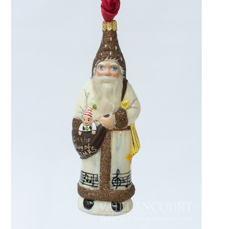 Ornament Mexican Folk Art - Vaillancourt Folk Art 3rd Day of Christmas Three French Hens Polish Ornament New