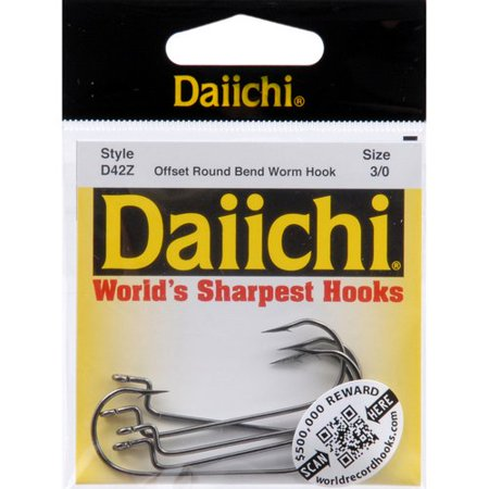 Worm Hook Daiichi Offset Worm Hook