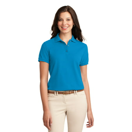 Port Authority Womens Silk Touch Short Sleeve Polo Shirt   L500