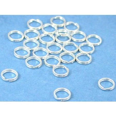 25 Sterling Silver Split Rings Charm Bead Parts - Charm Ring