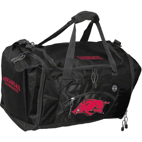 NCAA - Arkansas Razorbacks Black Roadblock Duffle Bag