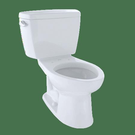 TOTO? Drake? Two-Piece Elongated 1.6 GPF Toilet, Cotton White - CST744S#01