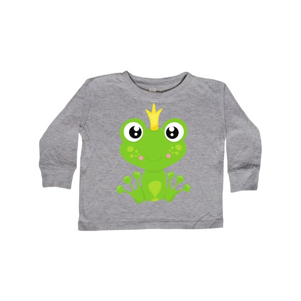 Frog Prince, Green Frog, Frog With A Crown Toddler Long Sleeve T-Shirt