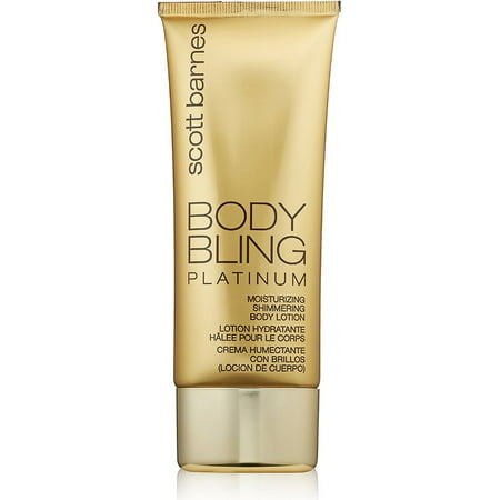 Scott Barnes Body Bling Moisturizing Shimmering Body Lotion, Platinum, 4 Oz