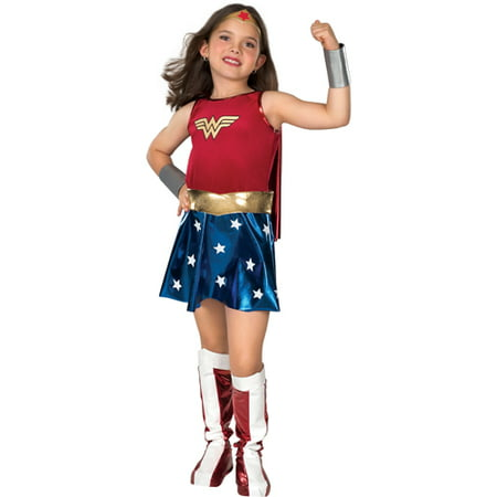 Girl's Deluxe Wonder Woman Halloween Costume
