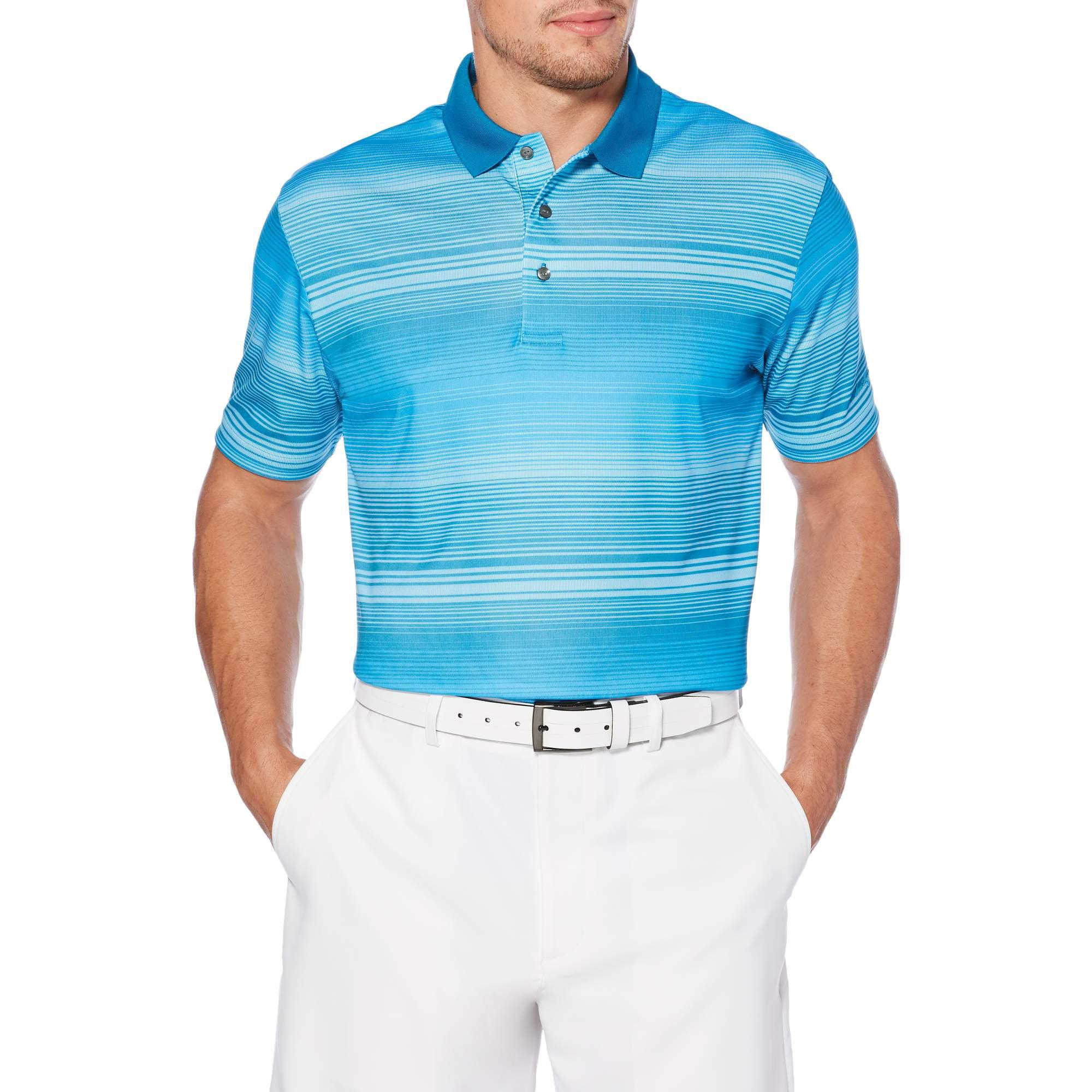 Big Men's Performance Short Sleeve Stripe Golf Polo Shirt by Generic