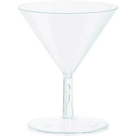 Mini Martini Glasses Plastic (2 oz Mini Clear Martini Glasses, Set of)