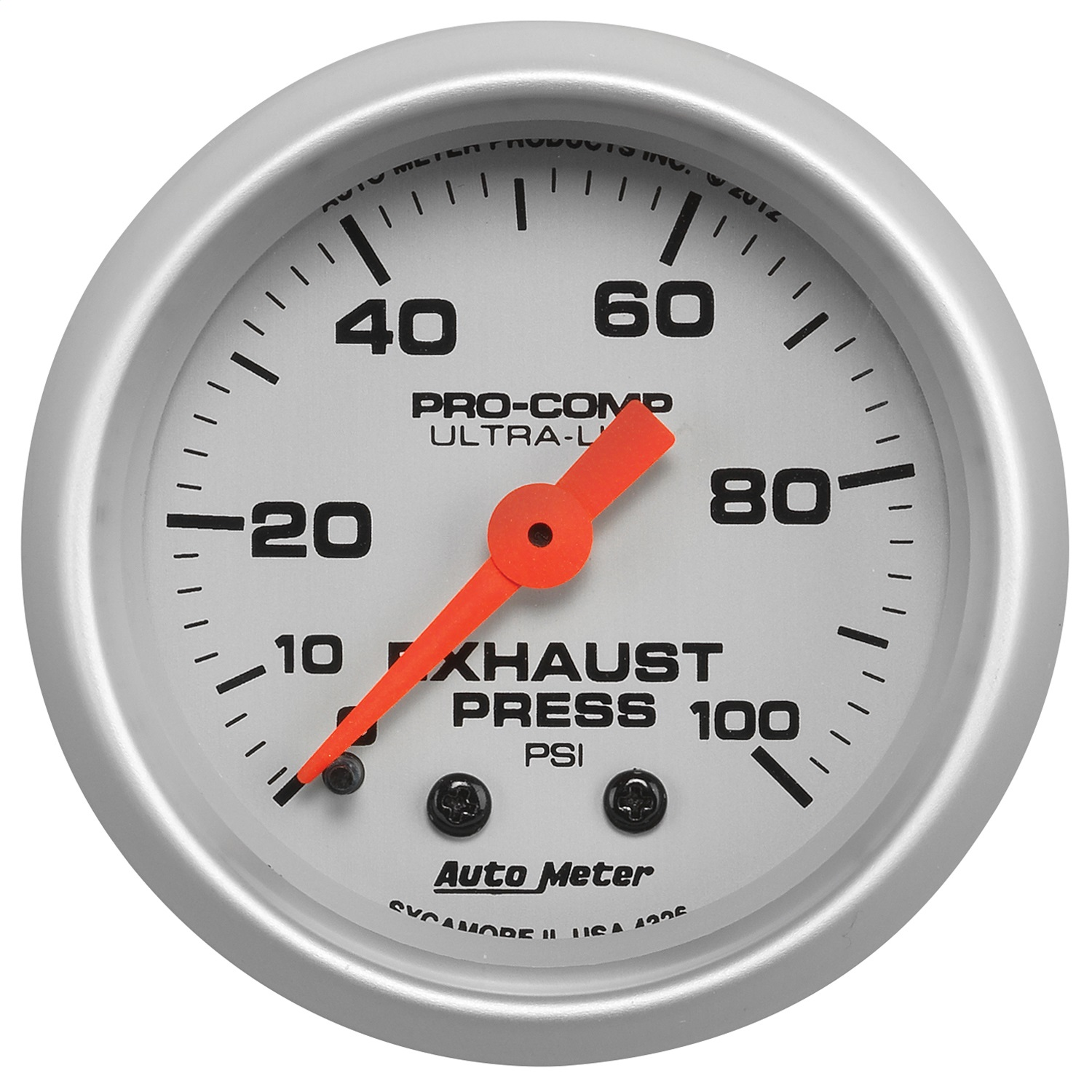 Auto Meter 4326 Ultra-Lite Mechanical Exhaust Pressure Gauge