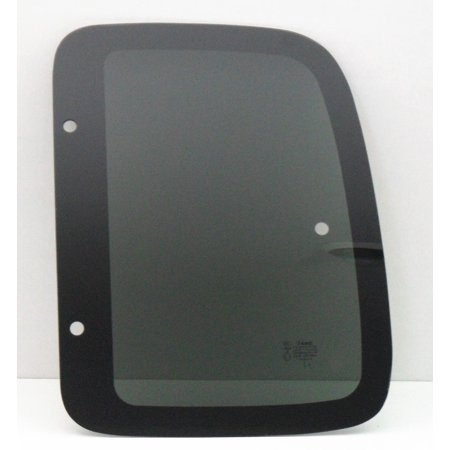 Rear Side Glass - For 1995-2000 Toyota Tacoma Pickup 2 Door Extended Cab Driver/Left Side Rear Quarter Window Replacement Glass