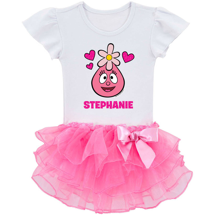 Personalized Yo Gabba Gabba I Love Foofa Toddler Girls' Tutu Shirt, Pink