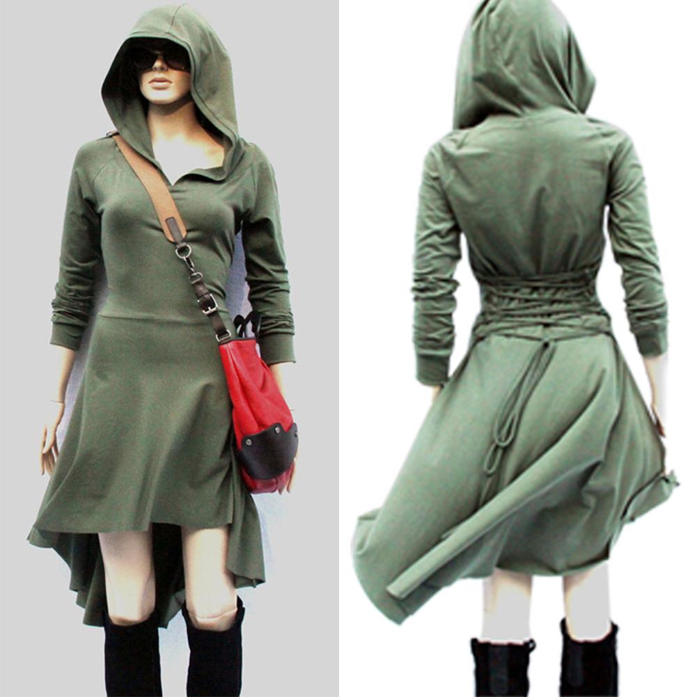 Long sleeve hoodie dresses