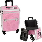 Sunrise E6301CRPK Pink Croc 4-Wheels Case - E6301