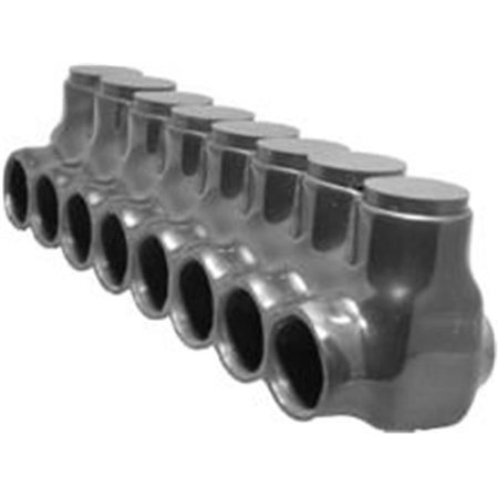 Morris Products 97578 Black Insulated Multi-Cable Connector - Single Entry 8 Ports 750 - 250 - image 1 of 1