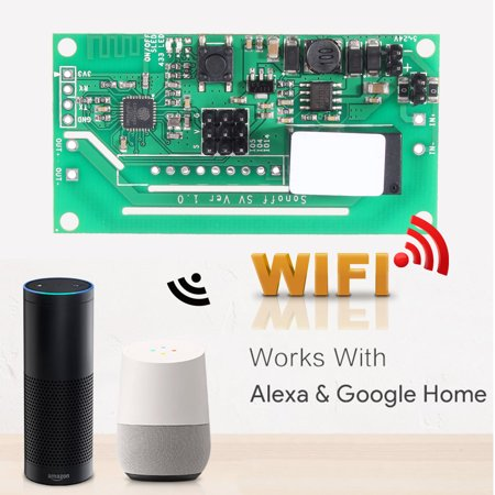 10A Wifi Smart Switch Modified Part Voice Control For Alexa Echo Google Home - image 3 de 7