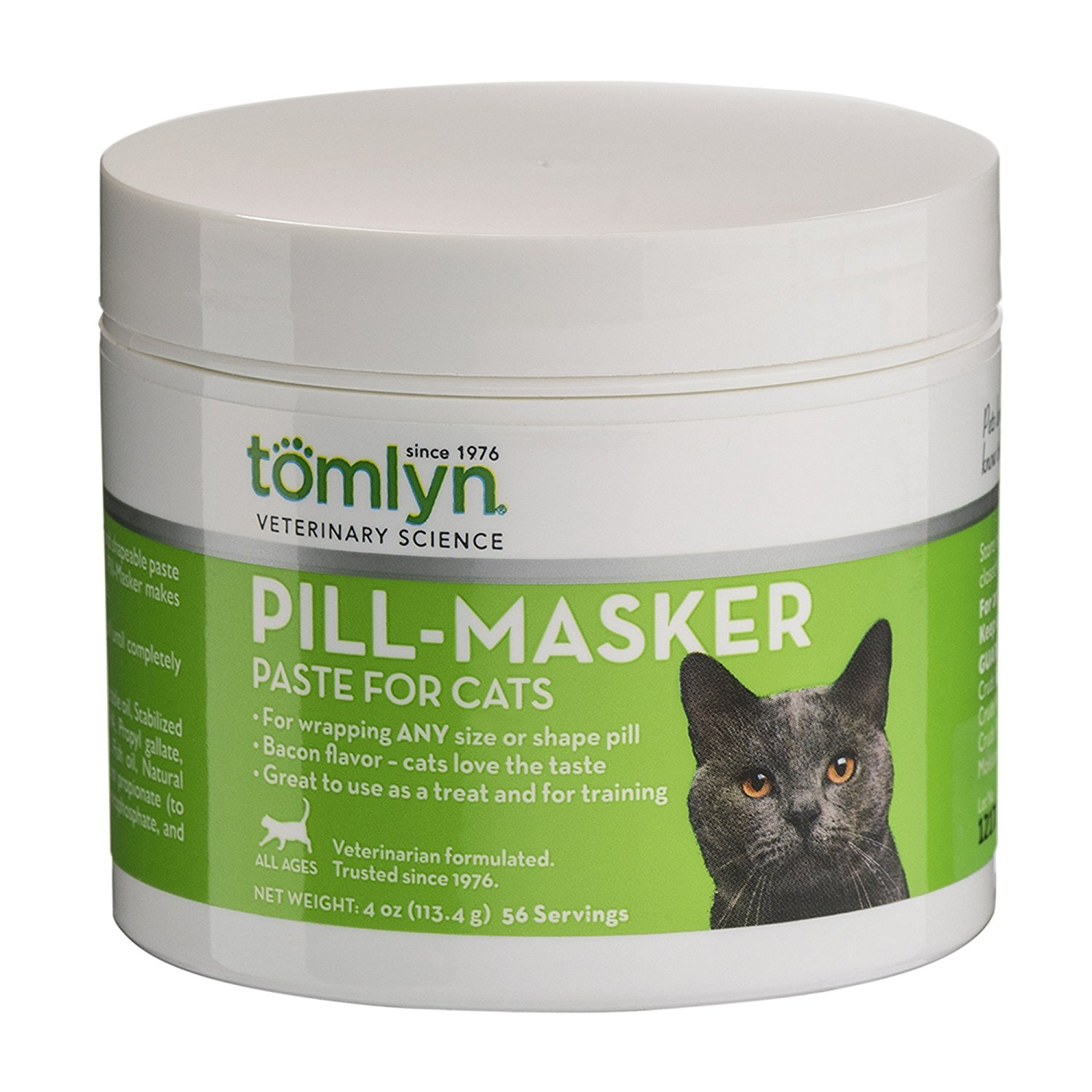 Tomlyn Pill-Masker for Cats, Bacon Flavor, 4 oz.