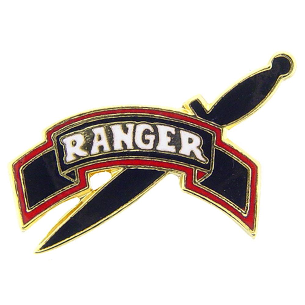 U.S. Army Ranger Tab with Knife Pin 1