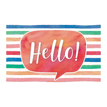 Fun Express - Watercolor Hello Postcards - Stationery - Cards - Note Cards - 30 (Fun Stationery)