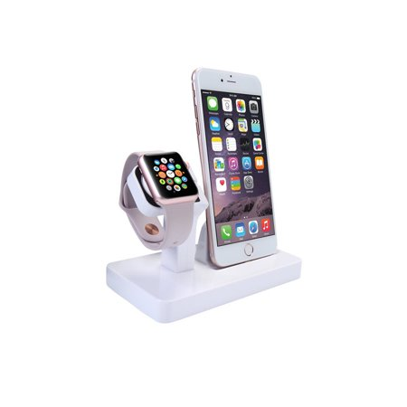 2 in 1 Stand Holder ,charging dock& Charging Docking Station, Charger Stand Dock Compatible with Apple Watch Series 3 2 1, iWatch, iPhone, iPod