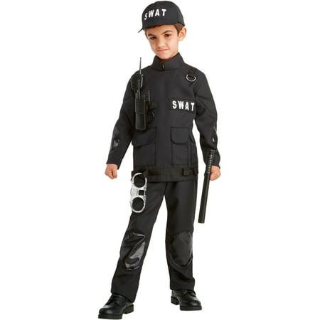 Swat Gear For Halloween (SWAT Commander Classic Child's Costume Medium)