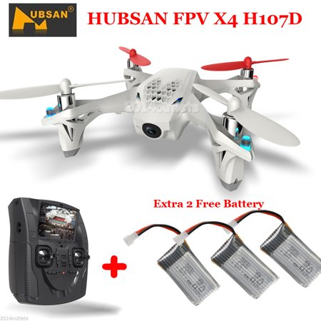 HUBSAN X4 H107D 5.8G FPV RC Quadcopter Drone LCD Transmitter Camera+ 2 Batteries