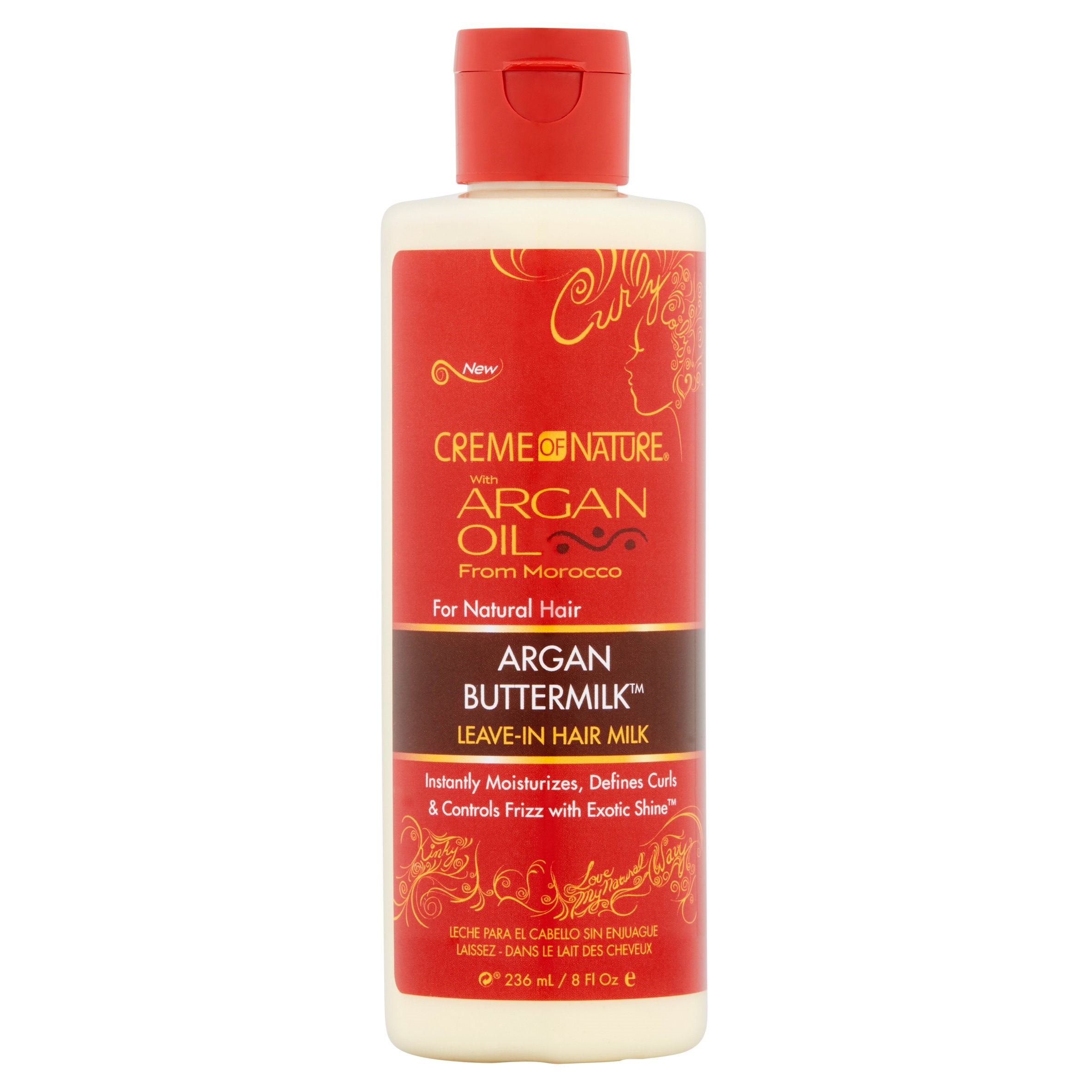 Creme Of Nature Argan Oil Argan Buttermilk Leave-In Hair Milk, 8.0 fl oz