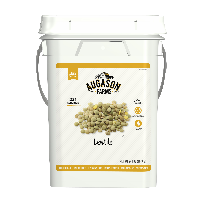 Augason Farms Lentil Beans Emergency Bulk Food Storage 4-Gallon Pail 231 Servings by Blue Chip Group