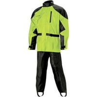 Nelson-Rigg AS-3000 Aston 2-Piece Rain Suit Hi Vis Yellow/Black