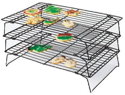 Set Of 3 Cooling Grids, Perfect results preium non-stick stackable cooking rack set. By Wilton by