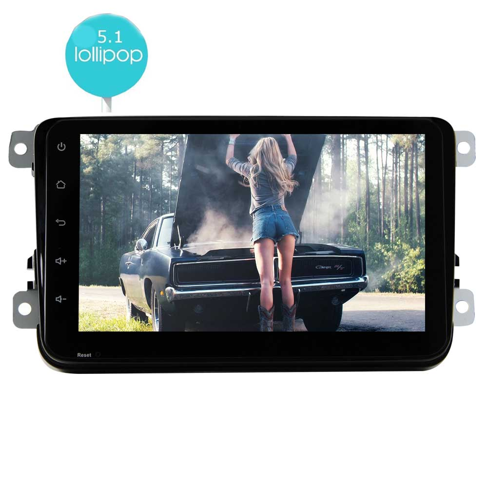 EinCar Double Din Android 5.1 8 Inch Capacitive Multi-Touch Screen Car Stereo In Dash Navigation without DVD... by EinCar