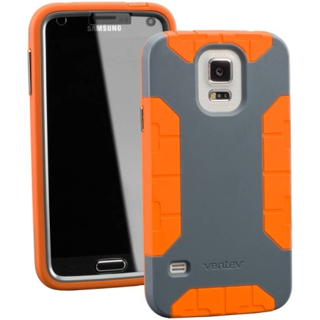 ventev fortius case for samsung galaxy s5 (dark grey/orange)
